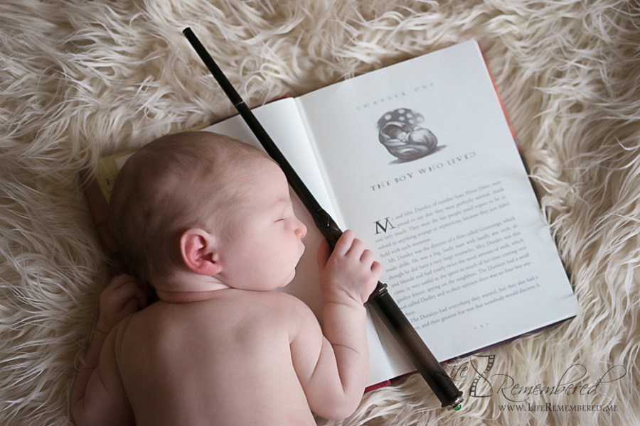 Harry Potter Newborn Photos – Baby Aurora